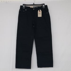 Levi's 550 Relaxed Black Straight Leg Jeans